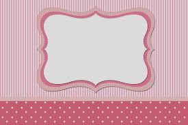 Rayas Y Lunares Blanco Y Rosa Invitaciones Para Imprimir Gratis