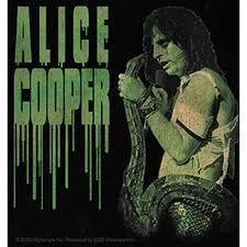 Alice Cooper With Snake Sticker Alice Caught A Snake In Hand Orignal Artwork Vinyl Decal Sticker 4 X 4 25 Walmart Com Walmart Com
