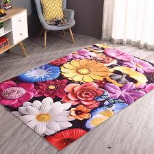 919446743 3d Floral Carpets For Living Room Decorative Carpet Bedroom Home Sofa Coffee Table Rug Kids Room Crawling Floor Mat Soft Rugs Home Garden Home Textile