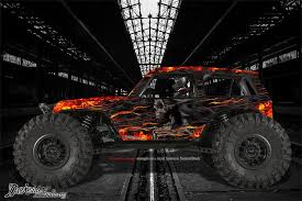 Axial Wraith Spawn Body Graphics Wrap Decal Kit Hell Ride Fits Oem P Darkside Studio Arts Llc