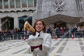 Lady Mayoress HIlary Russell tosses pancake Guildhall Editorial Stock Photo  - Stock Image | Shutterstock