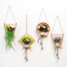 natural wicker flower basket