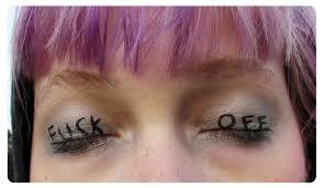 a dramatic eye makeup look