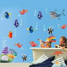 New Fish Seabed Nemo Wall Sticker Cartoon Wall Sticker Decor Removable Vinyl Nursery Kids Room Decals Kids Room Decalls Wall Sticker Decorsticker Decoration Aliexpress