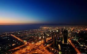 دبي ليل جمال مدينة دبي Hd خلفيات خلفية سطح المكتب