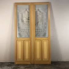 19th century etched glass interior doors