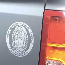 Virgen De Guadalupe Transparent Car Decal 4 25 5 75 Unique Catholic Gifts