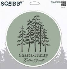 Amazon Com Squiddy Shasta Trinity National Forest Vinyl Sticker Decal For Phone Laptop Water Bottle 2 5 Wide Home Kitchen