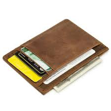 mens slim wallet leather rfid front