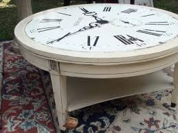 round clock coffee table with annie