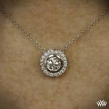 halo bezel diamond pendant 273