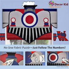 Boys Train Window Valance Easy No Sew Just Follow The Numbers Diy Valance Kids Training Train Room Decor