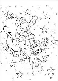 Santa Sleigh Perhaps For Stocking Kerstmis Kleurplaten