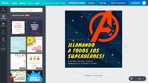 Crea Invitaciones De Los Avengers Online Gratis Canva
