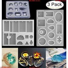 3 pack silicone jewelry casting molds