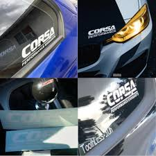 Corsa Die Cut Decal White Corsa Performance