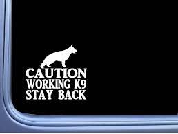 Caution Working German Shepherd 6 Sticker J767 K9 Window Etsy