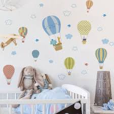 Hot Air Balloons Animals Wall Stickers Decals Decorative Adesivo De Parede Children Bedroom Living Room Pvc Wall Sticker Wall Decal Sticker Wall Decal Stickers From Healthtime 4 79 Dhgate Com