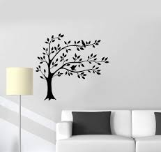 Vinyl Wall Decal Tree Leaves Branches Birds Home Interior Art Room Sti Wallstickers4you
