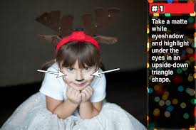 how to simple reindeer makeup a