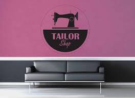 Sewing Machine Tailor Shop Sign Wall Decal Geekerymade