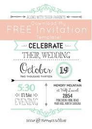 free wedding invitation templates e