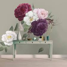 Colorful Peony And White Daisy Floral Bouqets Wall Decal Sticker Wall Decals Wallmur