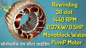 1440 rpm molock water motor winding