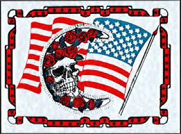 Large Grateful Dead Car Window Tour Sticker Decal Flag Bertha Moon And Roses
