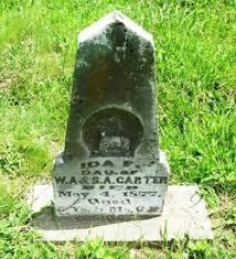 Ida Carter (1872-1877) - Find A Grave Memorial