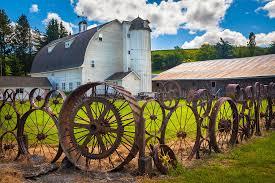 Uniontown Wagon Wheel Fence Inge Johnsson Photography