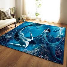 Creative Mermaid Printed Carpets For Living Room Bedroom Area Rugs Kids Room Antiskid Soft Floor Mats Home Large Size Custom Rug Aliexpress Com Imall Com