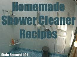 homemade shower cleaner recipes for