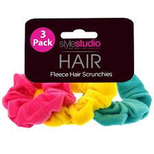 style studio fleece scrunchies 3pk