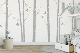 White Birch Tree Decals Home Inspirations Aesthetic Birch Tree Wall Decal
