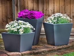 metal garden planters tapered outdoor p