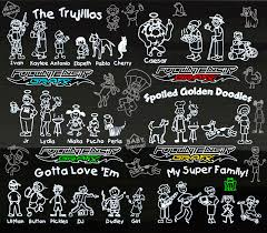 The Top 45 Family Sticker Ideas Weird Cool Creative Family Decal Mania Not Just For Car Windows Full Intensity Grafx