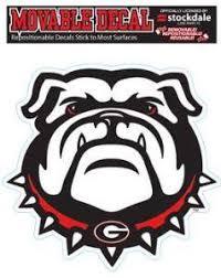 Ncaa Georgia Bulldogs Repositionable Vinyl Decal Sportsmaniausa Com