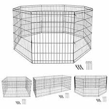 30 Inch 8 Panels Tall Dog Playpen Large Crate Fence Pet Play Pen Exercise Cage 758277385527 Ebay
