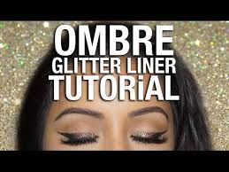 ombre glitter eyeliner tutorial party