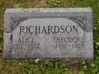 Alice Ada Richardson (Roan) (1857 - 1922) - Genealogy