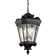 kichler 9568bkt black tournai 8 light
