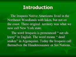 Iroquois The Native Americans of the Northeast Woodlands. - ppt download