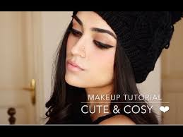 winter makeup tutorial cute cosy