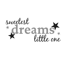 Sweetest Dreams Little One Wall Decal Wall Quotes Expression Quotes Wall Decals