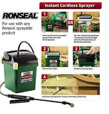 Ronseal Rslpps Battery Powered Cordless Garden Fence Panel Shed Power Sprayer 5010214873227 Ebay