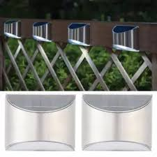Stainless Steel Solar Fence Security Lights Light Control Step Wall Lamp For Outdoor Use Lazada Ph