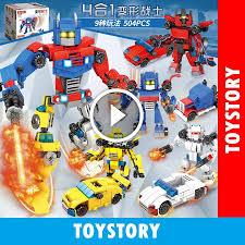 Shop bán [ToyStory] Hộp 4 Bộ Đồ Chơi Lắp Ráp Chiến Binh Cho Bé - Lele  Brother 8519 Xếp Hình Robot Trẻ Em giá chỉ 210.000₫