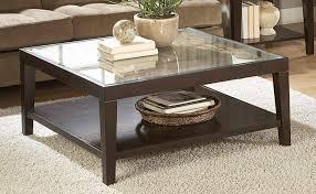 modern wooden center table glass top