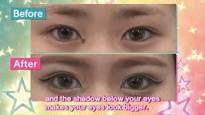 glamorous big eye makeup kawaii i cus